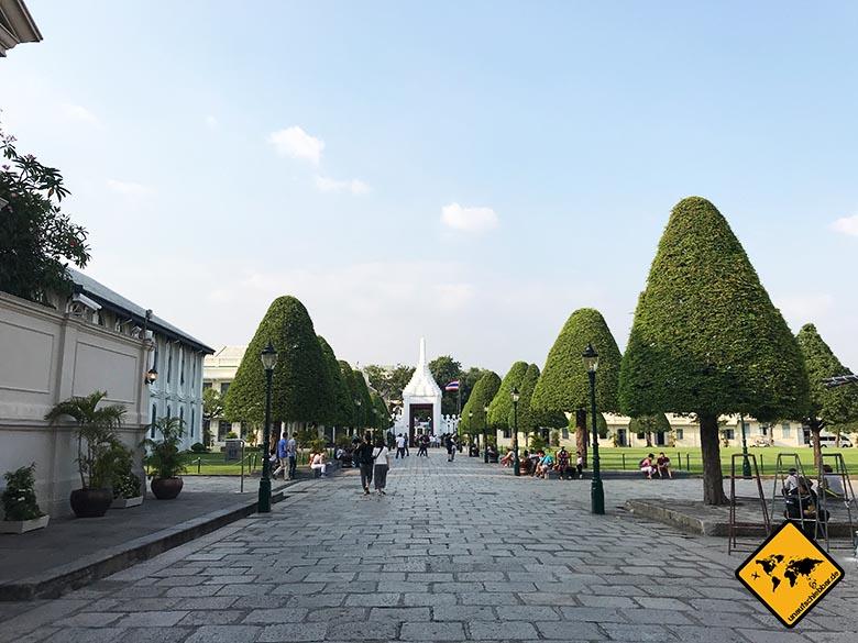 Königspalast Bangkok Zugang