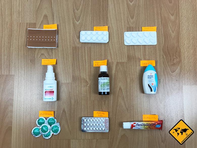 Koffer packen Checkliste Medikamente