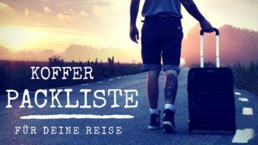 Kofferpackliste für deinen Sommer Urlaub zum Ausdrucken als PDF