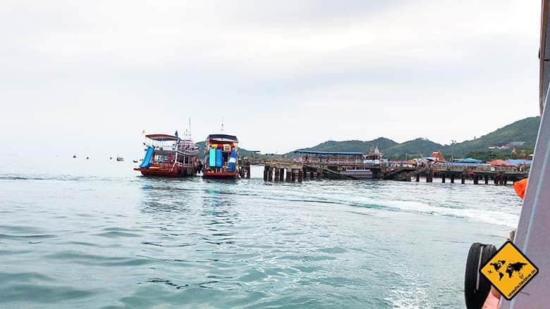 Koh Larn Island Fähre seitlich