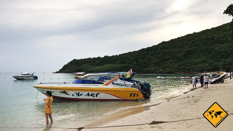Koh Larn Island Nual Beach Boote