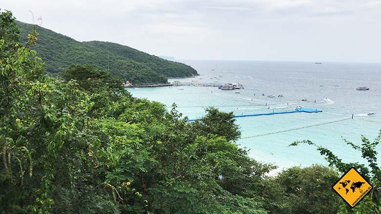 Koh Larn Thailand Tawaen Beach Ausblick