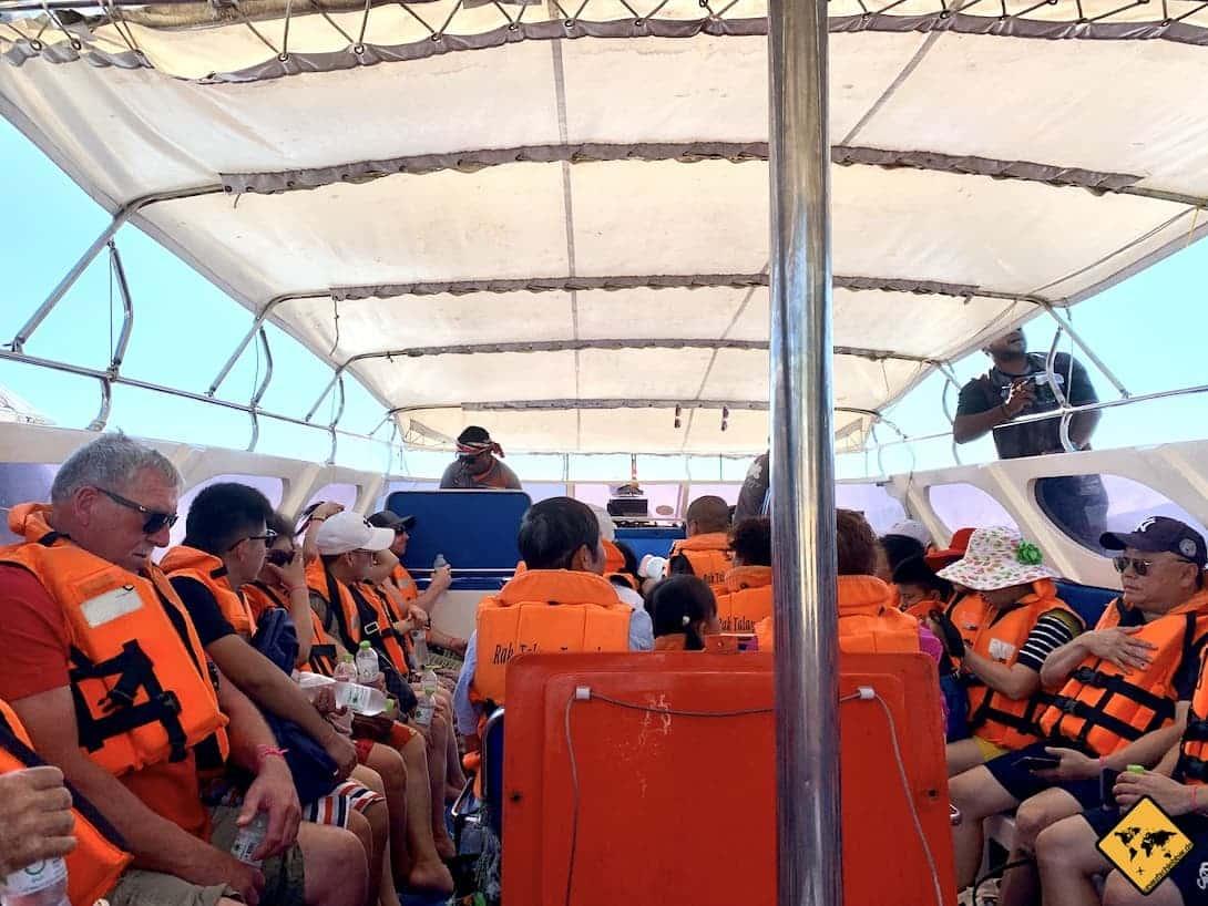 Koh Phi Phi Ausflug Schnellboot Schwimmwesten Sicherheit
