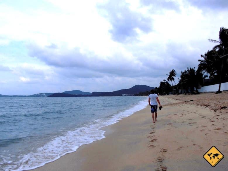 Koh Samui Regenzeit Strand Wolken