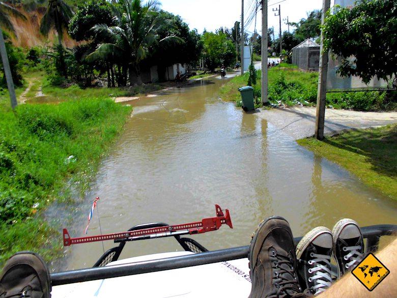 Koh Samui Regenzeit Überflutung