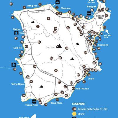 Koh Samui Reiseführer Inselguide Karte