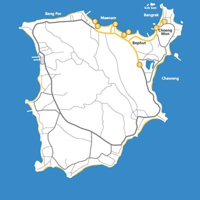 Koh Samui Reiseführer Inselguide Tourkarte