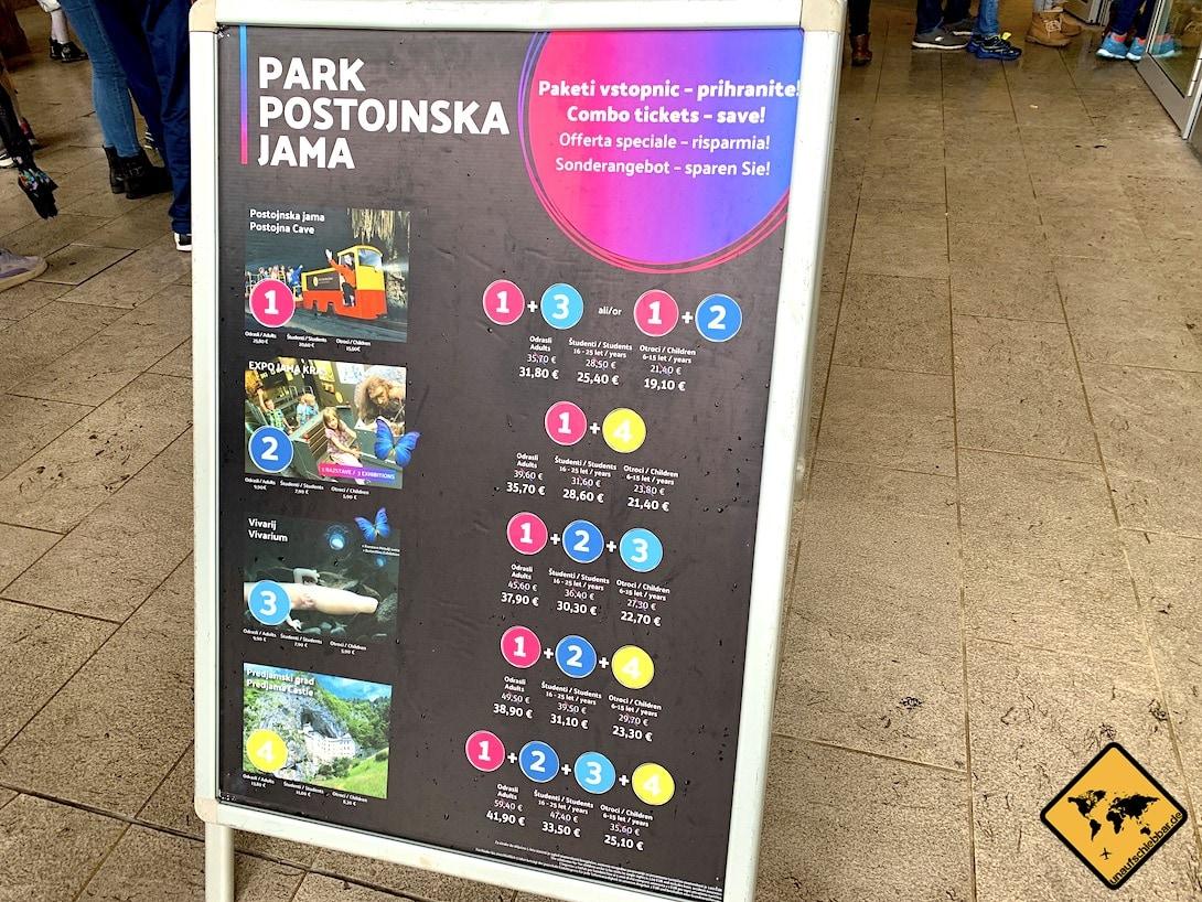 Kombi-Tickets Park Postojnska Jama