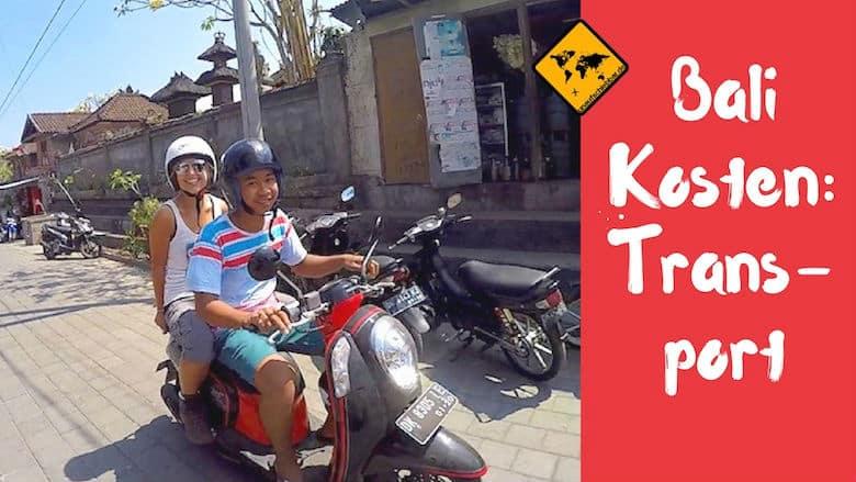 Kosten Bali für Transport