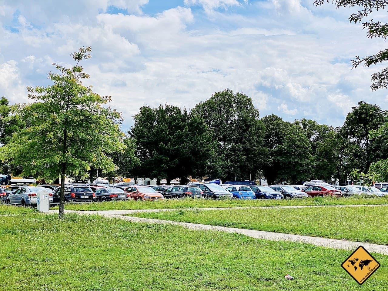 Kostenloser Parkplatz Dresden Pieschener Allee