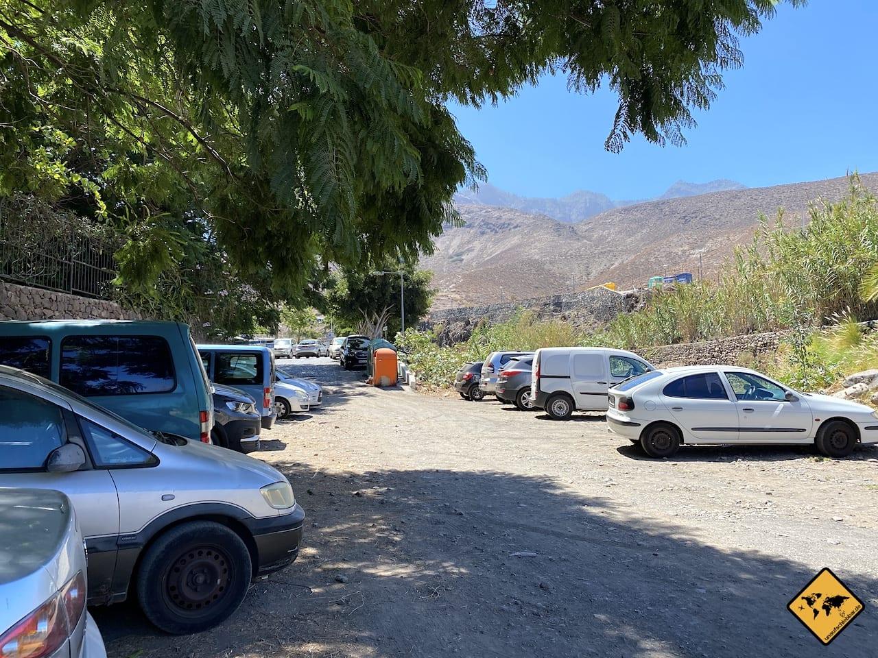 Kostenloser Parkplatz Ortskern Agaete Gran Canaria