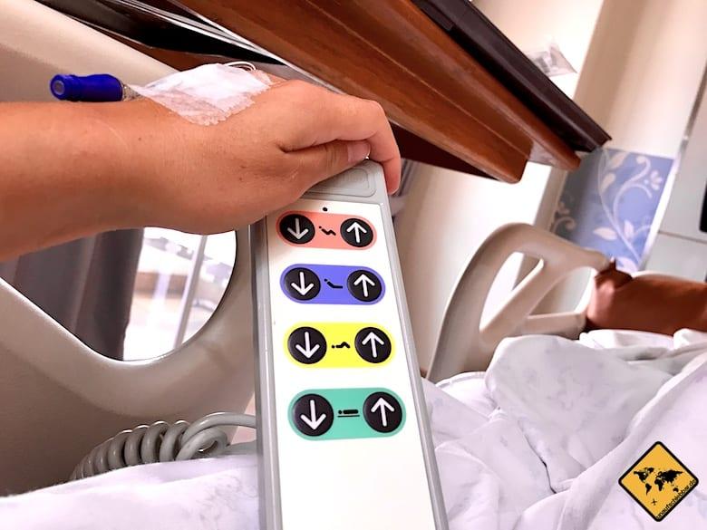 Krankenhaus Thailand Chiang Mai RAM Hospital Bettsteuerung