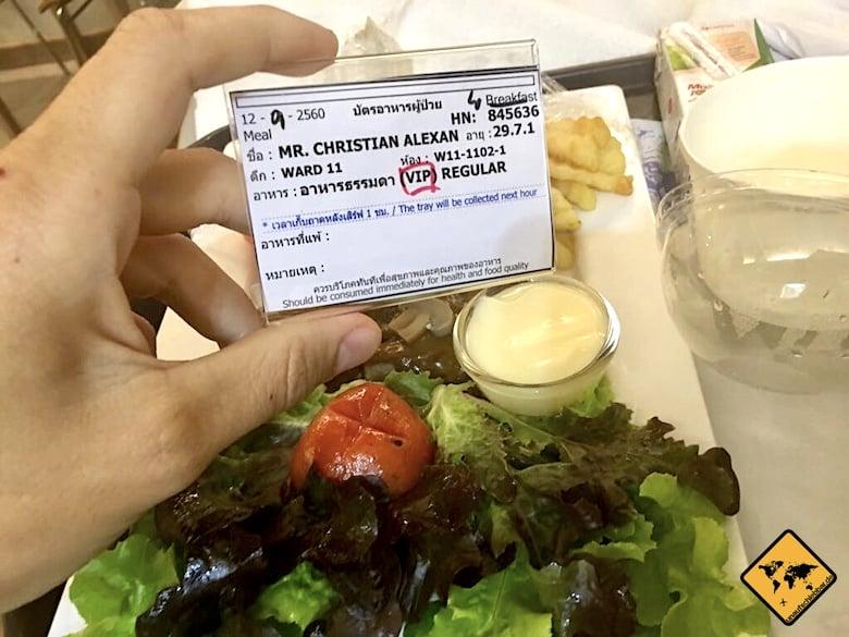 VIP Essen im Chiang Mai RAM Hospital
