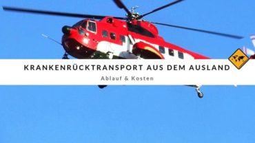 Krankenrücktransport aus dem Ausland – Ablauf und Kosten
