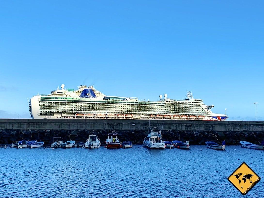 Kreuzfahrtschiff Hafen Santa Cruz de La Palma