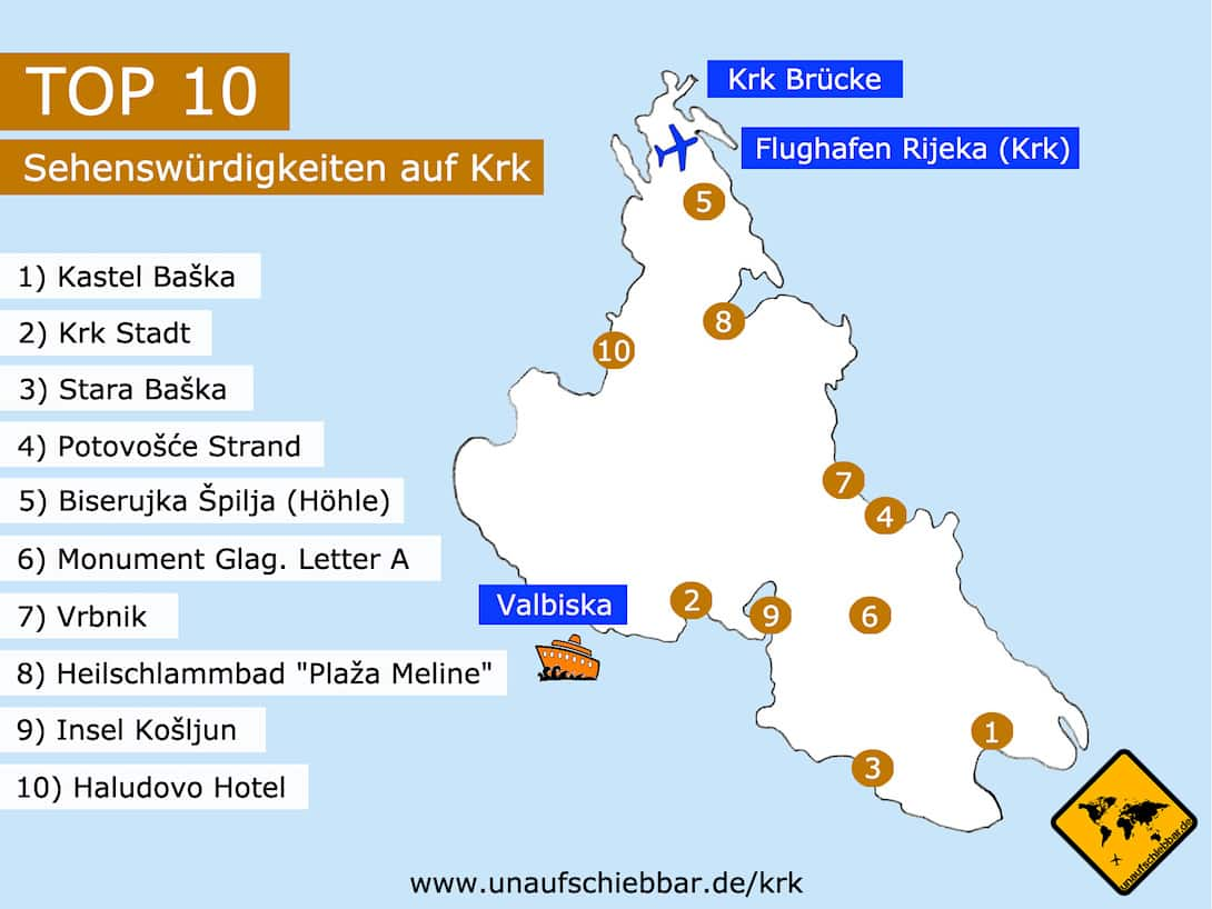 Insel Krk Kroatien Top 10 Ausfluge Sehenswurdigkeiten Mit Karte