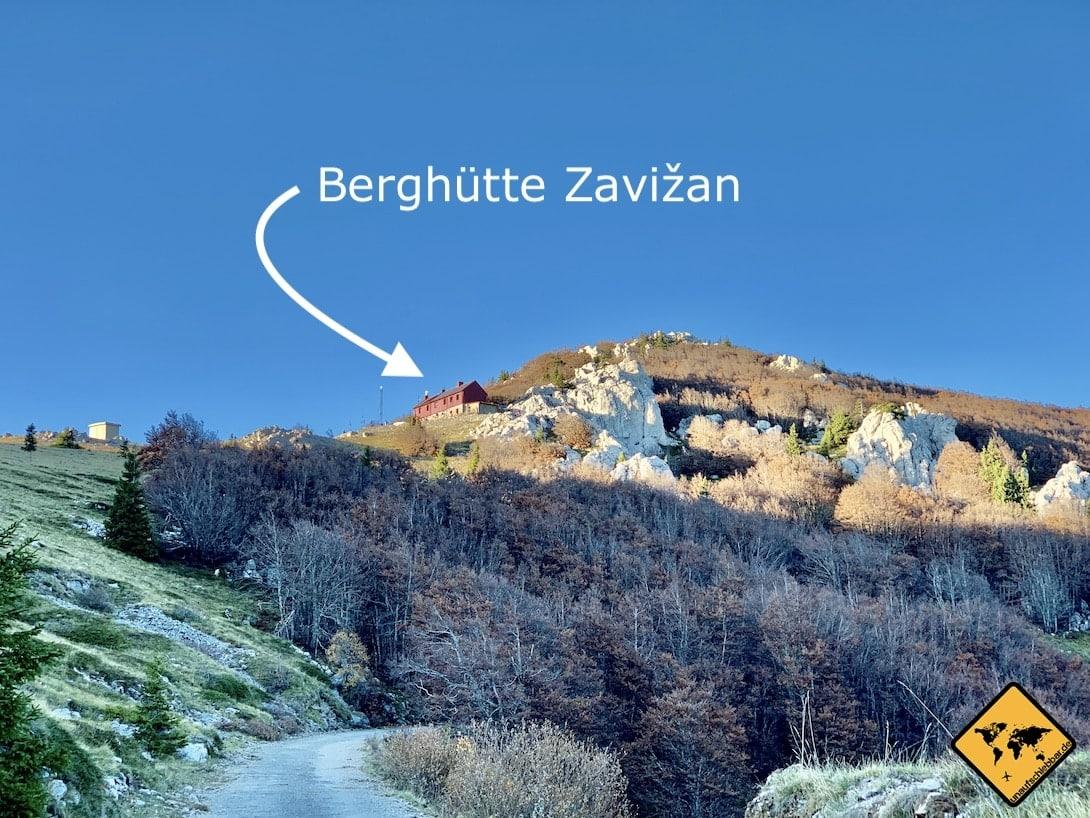 Kroatien Nationalpark nördlicher Velebit Berghütte Zavižan