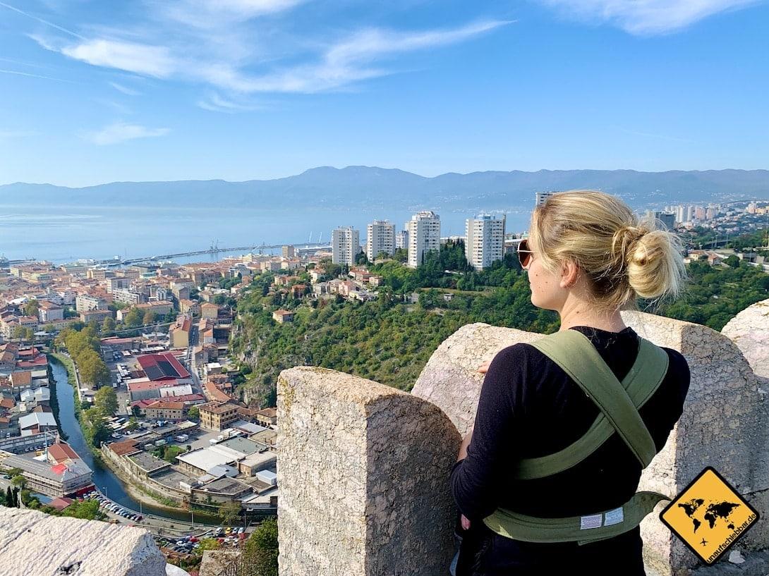 Kroatien Trsat Castle Aussicht Rijeka