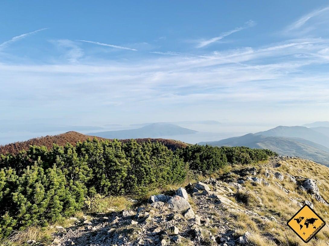 Kroatien Učka Gebirge
