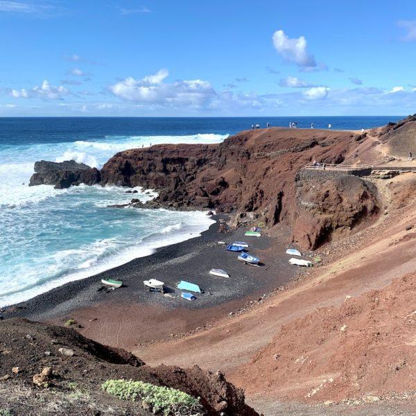 Küste Strand El Golfo Lanzarote
