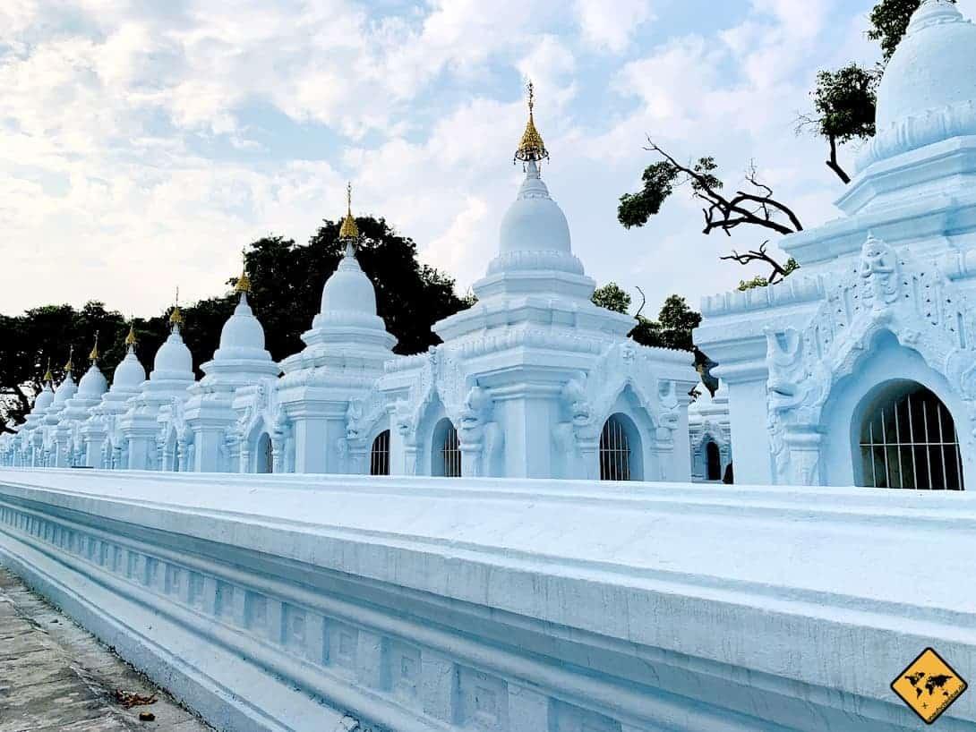 Kuthodaw Pagode Mandalay Tempel in Myanmar