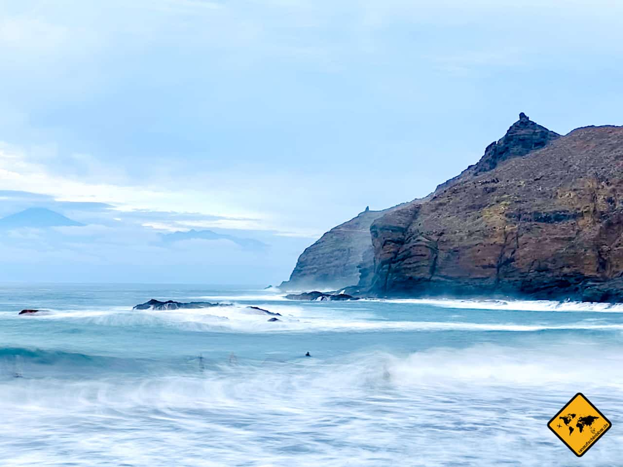 La Gomera Playa de Caleta Langzeitbelichtung