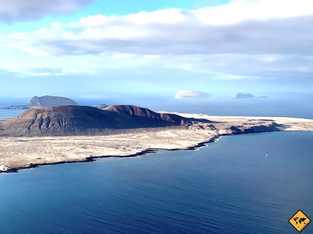 La Graciosa Aussicht von Lanzarote