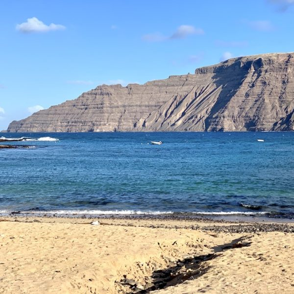 La Graciosa Strand Meer Famara Massiv Lanzarote