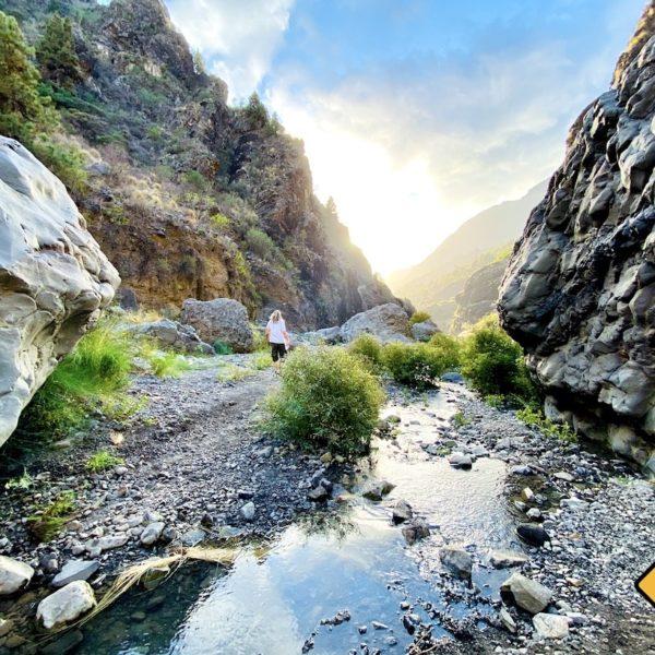 La Palma Barranco de las Angustias Wanderung
