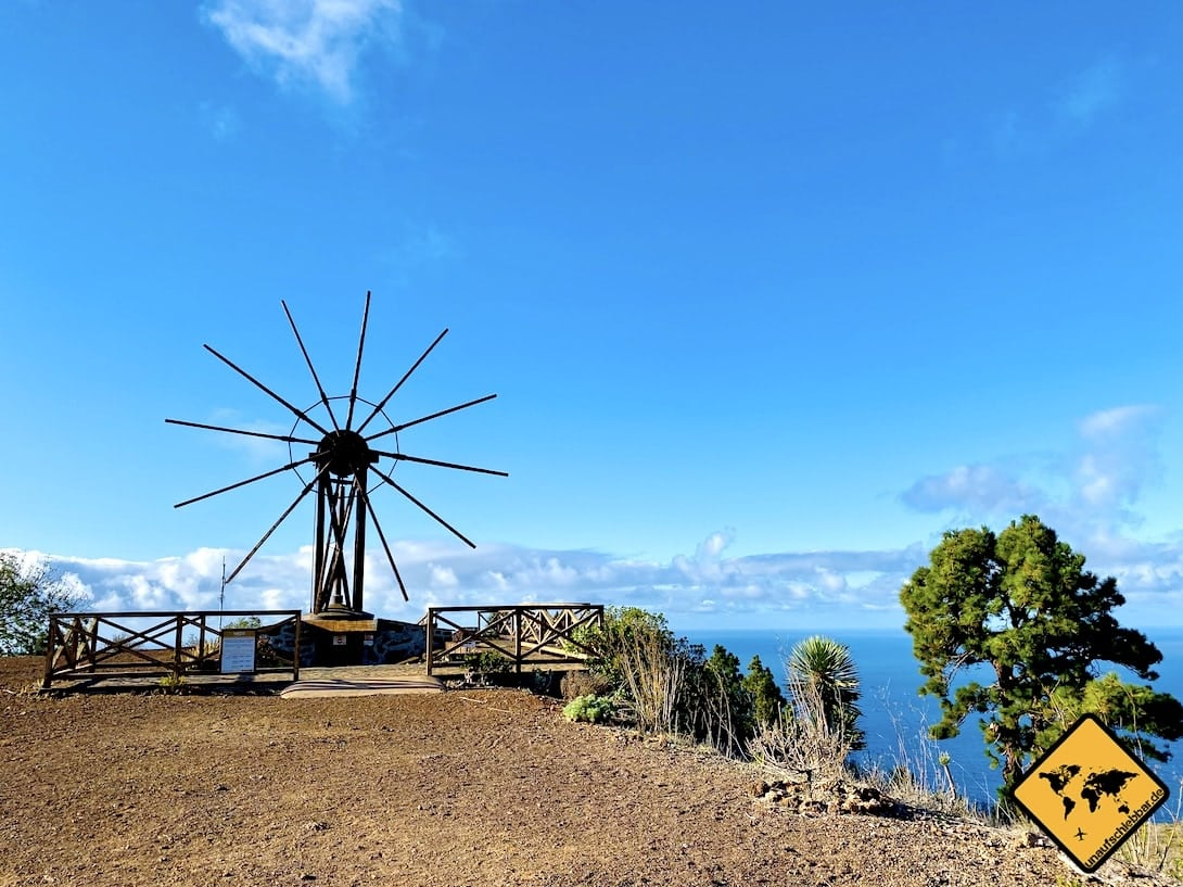 La Palma Sehenswürdigkeiten Gofio Mühle Las Tricias