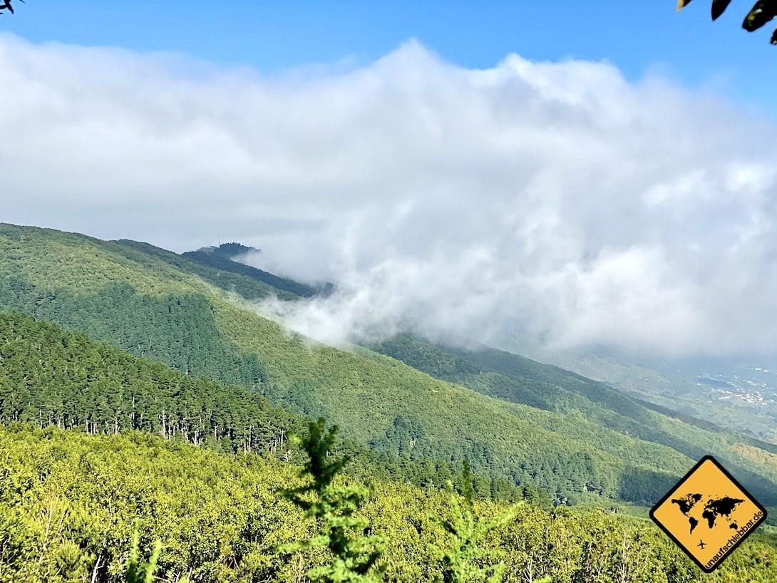 La Palma Sehenswürdigkeiten Wolkenverlauf