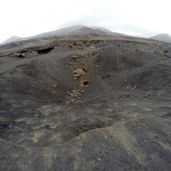 Die Landschaft am Vulcan El Cuervo im Nationalpark Timanfaya ist beeindruckend
