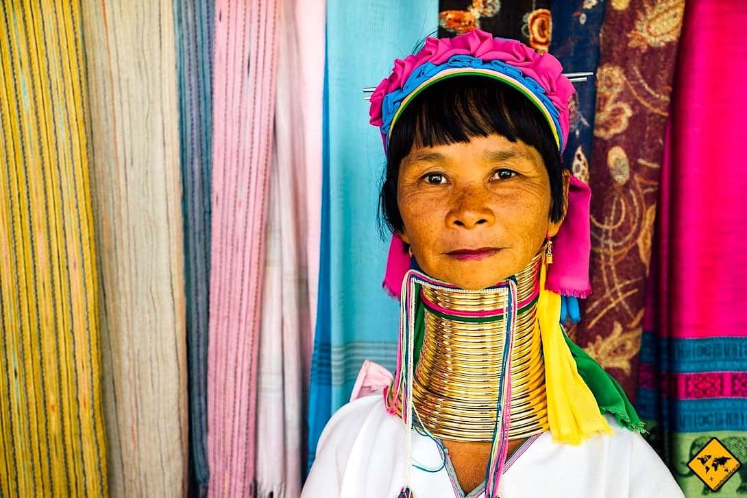 Langhalsfrau Inle Lake Myanmar