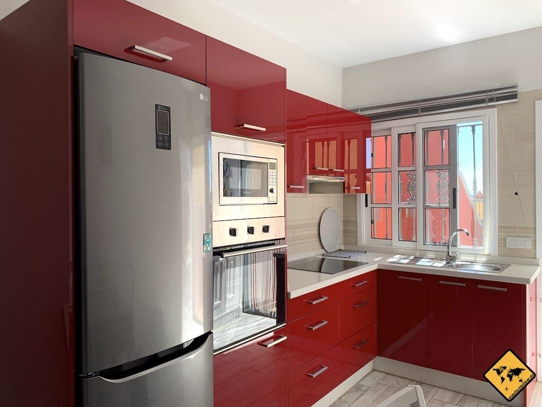 Langzeiturlaub auf Teneriffa Küche AirBnB Wohnung