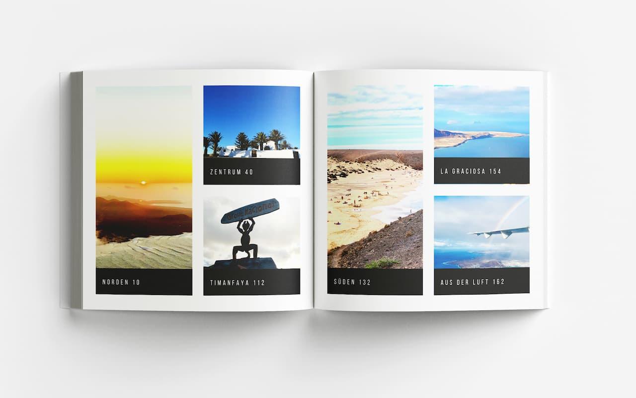 Lanzarote Fotoband Inhaltsverzeichnis
