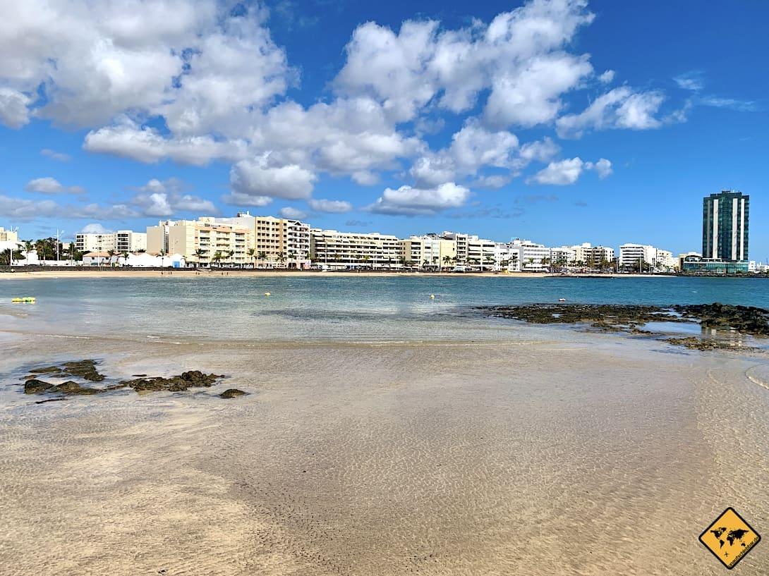 Lanzarote Insel-Hauptstadt Arrecife Strand Hotel