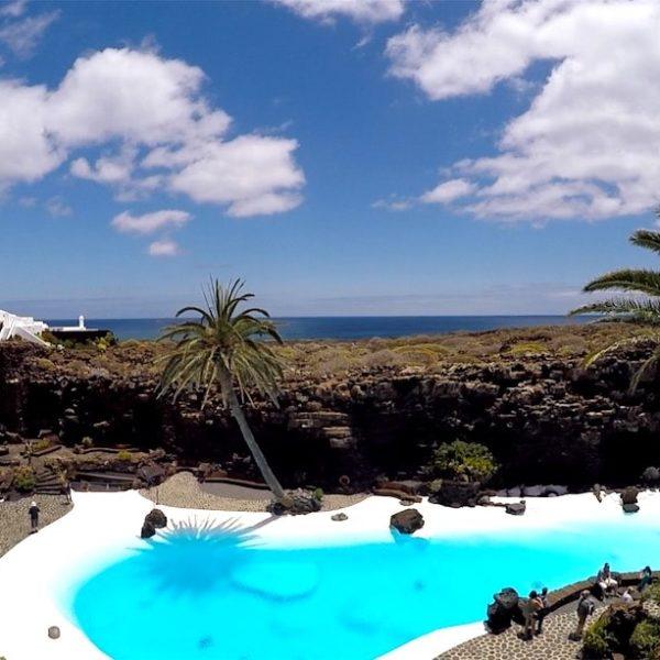 Lanzarote Jameos del Agua Pool Garten
