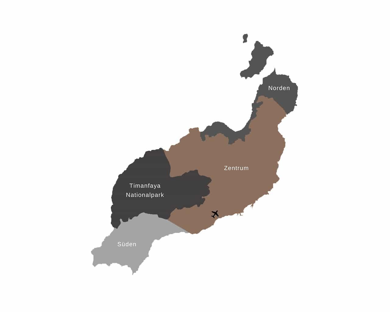 Lanzarote Karte Map Kanaren