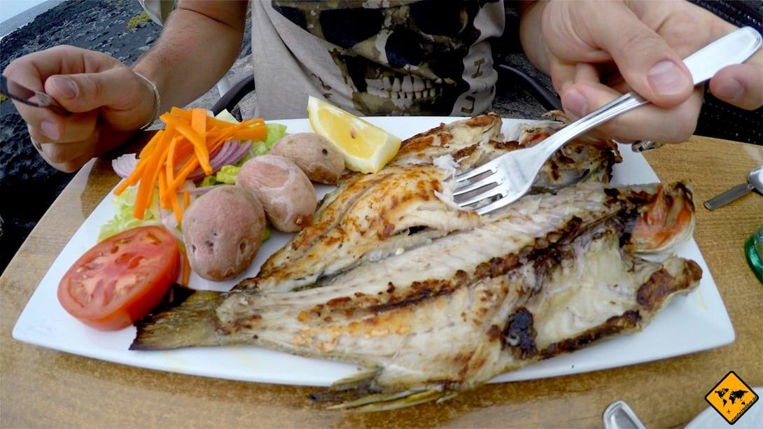 Im Dorf El Golfo gibt es die besten Fisch-Restaurants im Lanzarote Nationalpark