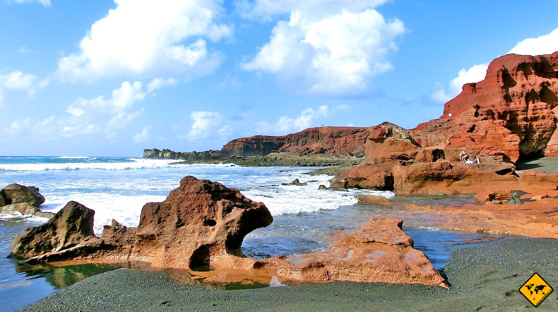 Lanzarote Reiseblog Meer Felsen