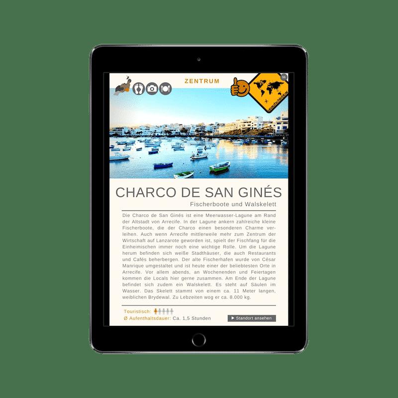 Lanzarote Reiseführer 99 Highlights iPad Charco De San Gines