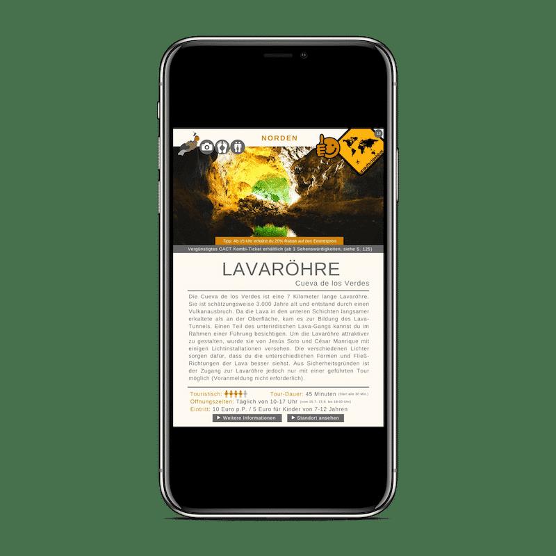 Lanzarote Reiseführer 99 Highlights iPhone X Cueva de los Verdes
