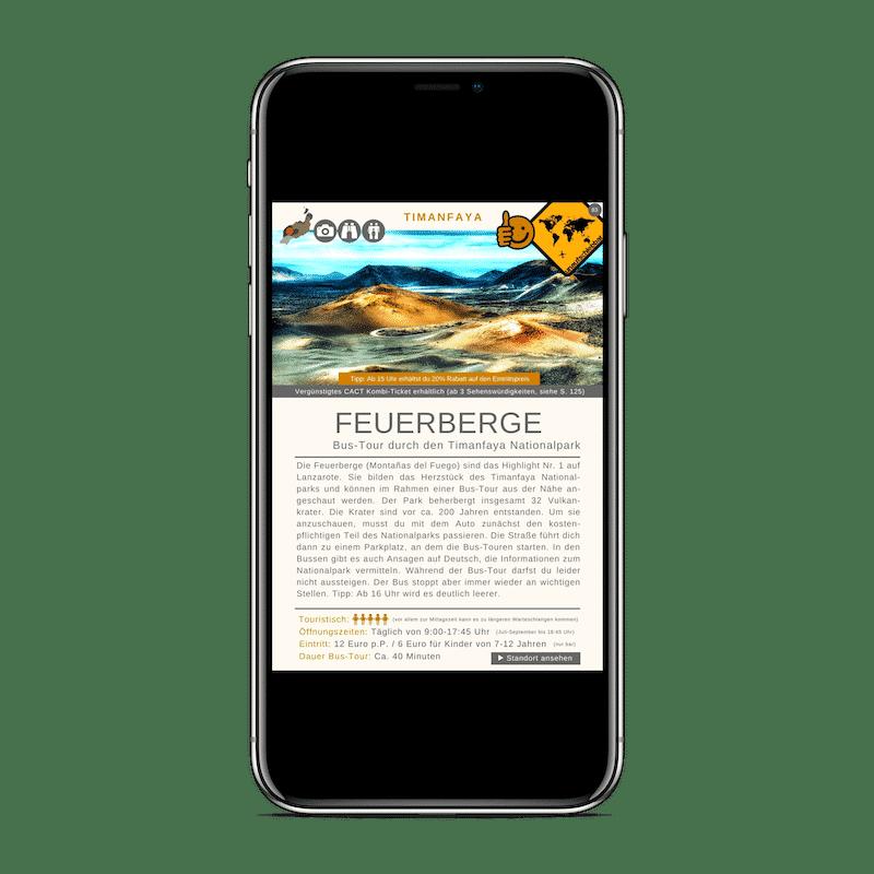 Lanzarote Reiseführer 99 Highlights iPhone X Symbole Timanfaya Nationalpark