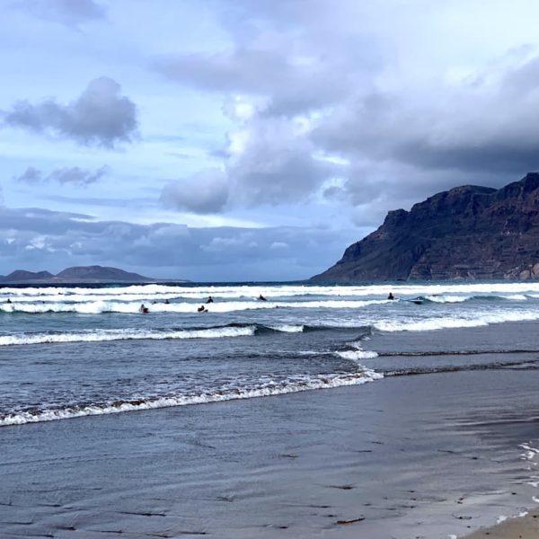 Lanzarote Surfen Caleta de Famara