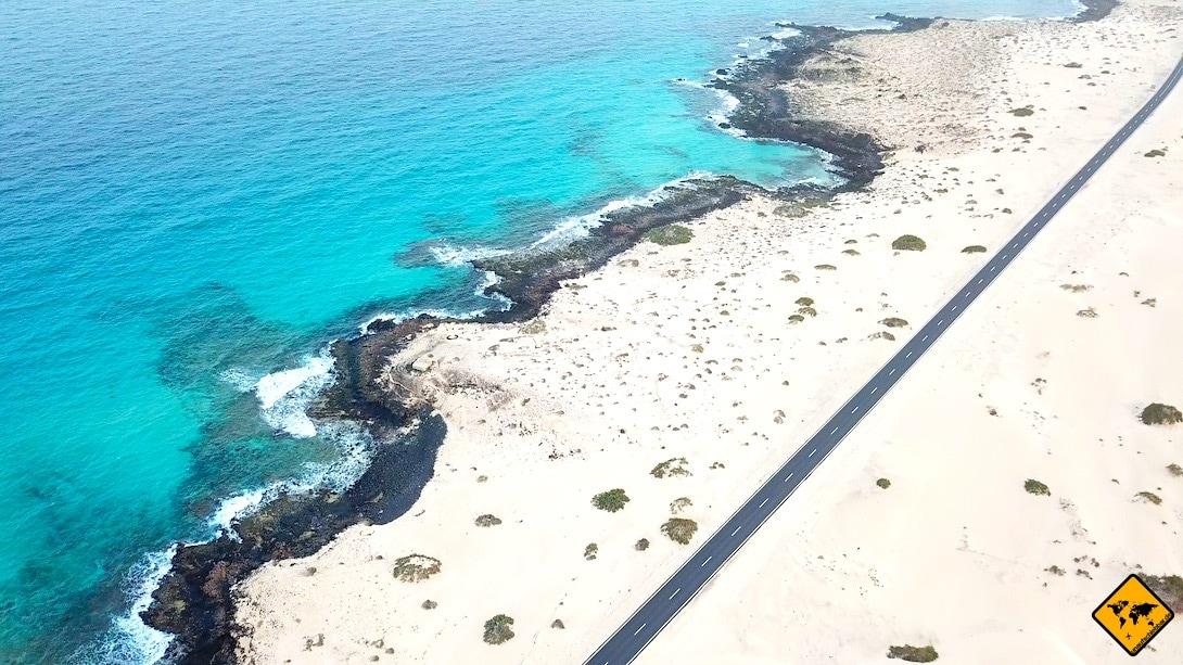 Lanzarote oder Fuerteventura Strände Sanddünen Corralejo