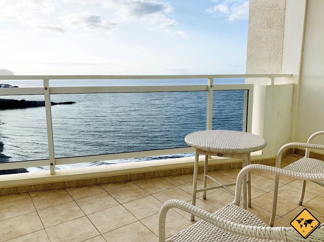 Langzeiturlaub Teneriffa Balkon Meer