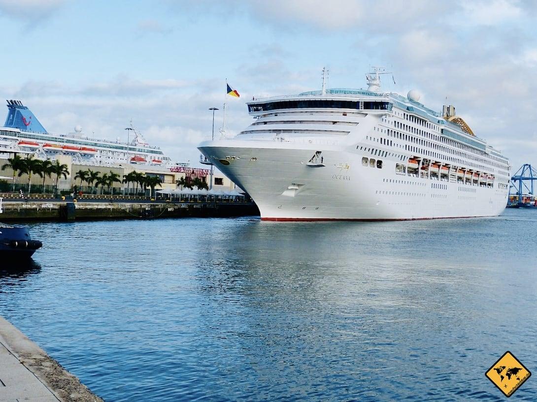 Las Palmas de Gran Canaria Hafen Kreuzfahrtschiff