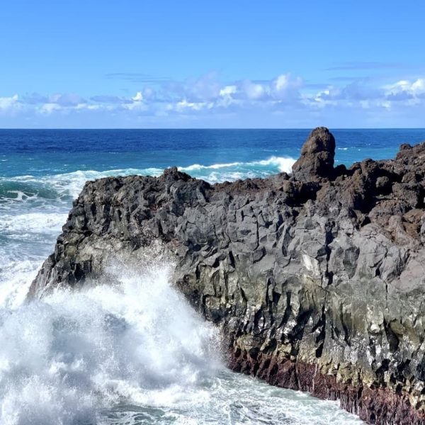 Lava-Küste Meer Wellen Los Hervideros Lanzarote