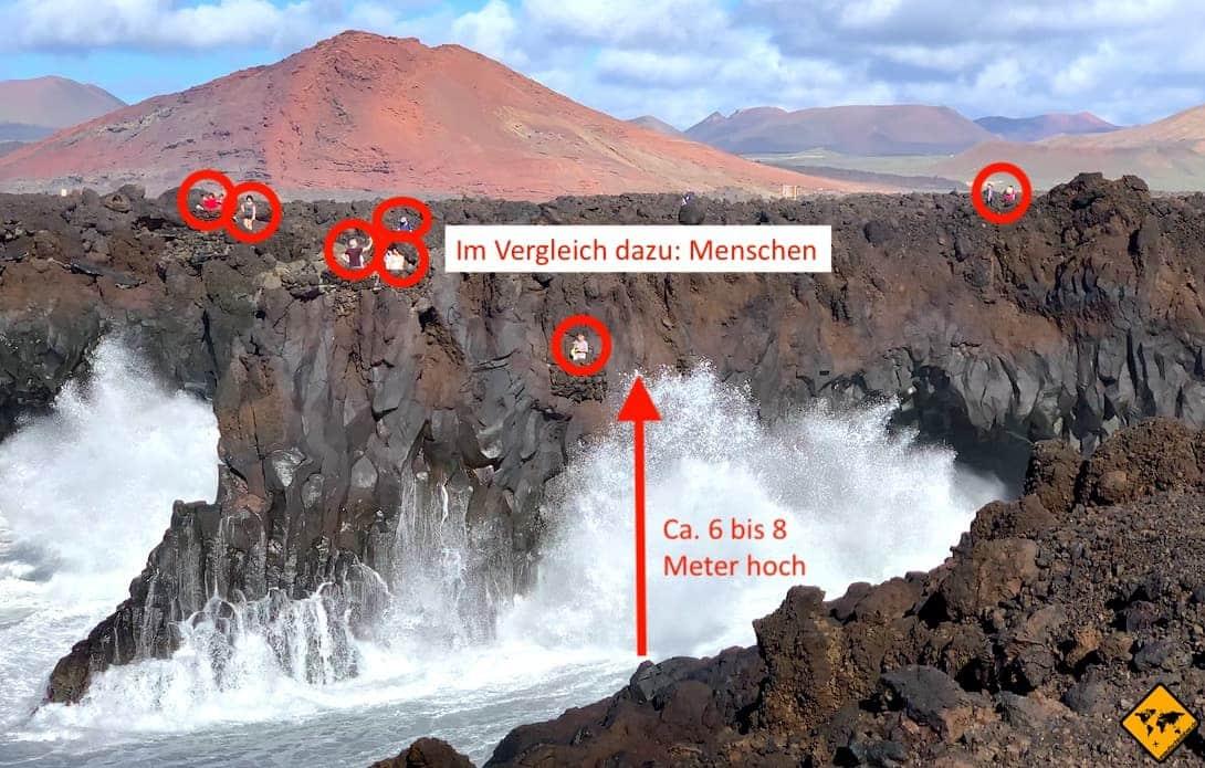 Lava-Landschaft Welle Los Hervideros Lanzarote