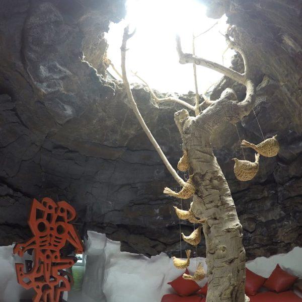 Lavablase Baum Taro de Tahíche Lanzarote